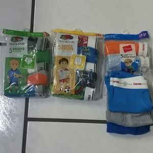 NWT Toddler boys boxer and briefs bundle